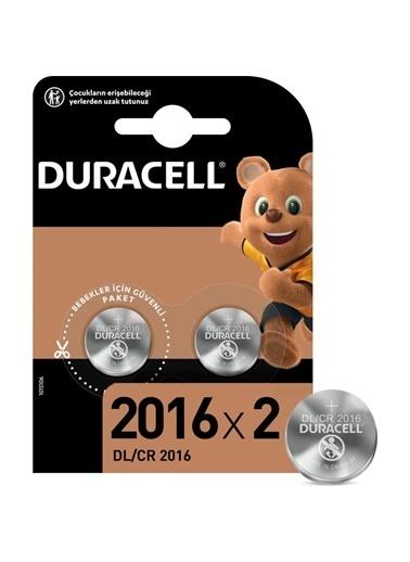 Duracell Duracell Dayanıklı 2'Li Lityum 3V 2016 Pil Renkli